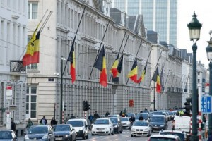 Brussels flags at half mast
