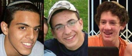 ECI mourns death of kidnapped Israeli teenagers