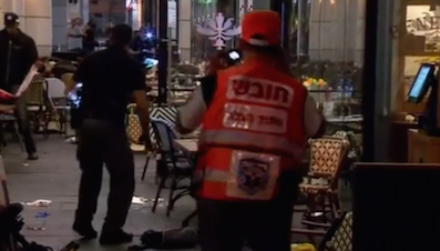 "Breaking news – Terror attack in Tel Aviv leaves four dead. PA leader: ""Israel is reaping repercussions."""