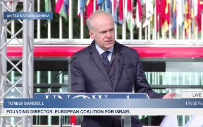 ECI calls out Israel bashing at UN rally in Geneva