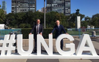 """ECI wishes UN Secretary-General """"Shana Tova"""" after unprecedented UNGA week in New York: """"Time to add eradication of anti-Semitism to list of UN Sustainable Development Goals"""""""