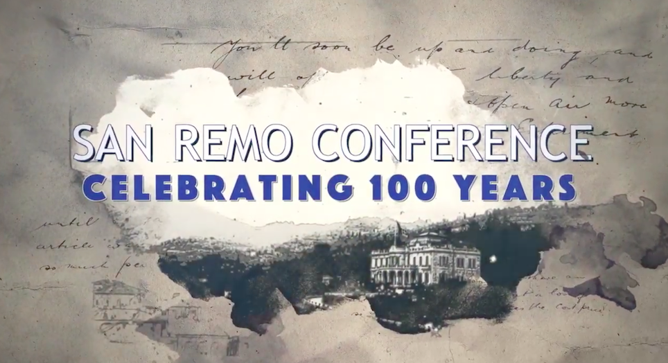 World leaders take part in virtual event as Israel celebrates 100th anniversary of the San Remo Resolution